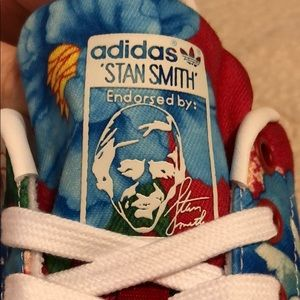 adidas Shoes - Adidas Stan Smith Red Power Floral Edition